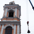 Подняты три новых колокола